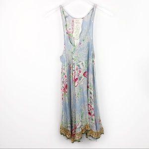 Free People FP One Floral Sequin Hem Slip Dress